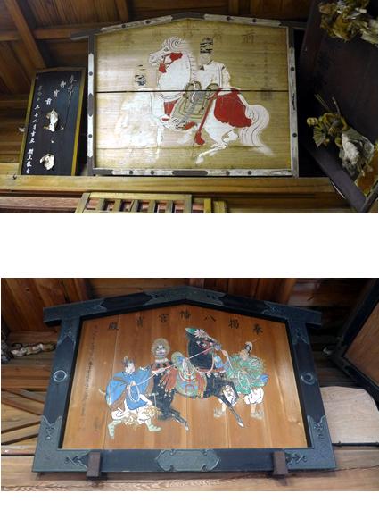 加藤文麗(泰都)筆の絵馬・加藤泰済公奉献の絵馬